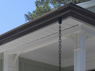 seamless gutters on a home in  florence sc
